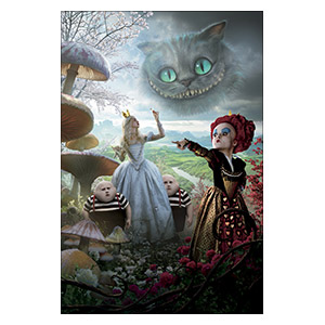 Alice in Wonderland. Размер: 40 х 60 см